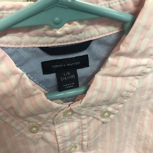 Tommy Hilfiger Shirts & Tops - TOMMY HILFIGER White/Pink Cotton Shirt - Sz 16/18